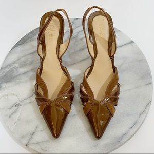 Cole Haan slingback patent leather heels